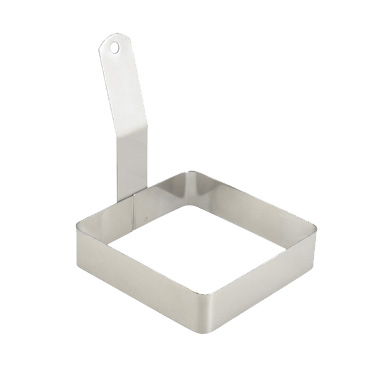 "Winco EGRS-44 Egg Ring, 4"" x 4"", Square, Stainless Steel"