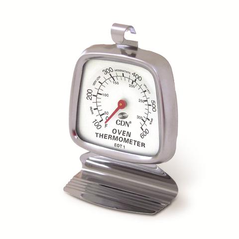CDN EOT1 Oven Thermometer, 100 to 600°F, Ovenproof, Hang or Stand