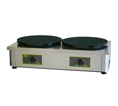 "Equipex 400ED Sodir-Roller Grill Crepe Machine, double (2) 15-3/4"" dia enamel coated cast iron plates, 208/240v/60/1-ph 290/330 amps 785 kW NEMA 6-50P cUlus Classified"