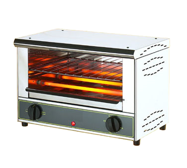 "Equipex BAR100/1 Sodir-Roller Grill Toaster Oven, 18""L 11-1/2""D 12-1/2""H, top & bottom infrared heat, 120v/60/1-ph 140 amps 17 kW NEMA 5-15P UL"