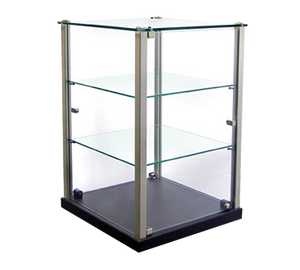 "Equipex TP353 Ambient Display, 14""W x 14""D x 20-3/4""H, 2 glass shelves"