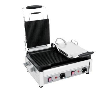 Eurodib USA SFE02365-240 Double Commercial Panini Press With Cast Iron Grooved Plates, 240v/1ph
