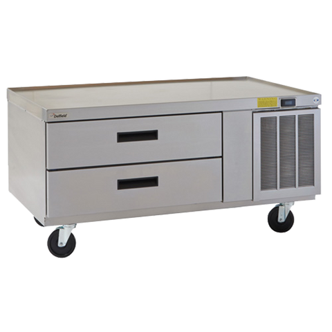 "Delfield F2952CP Refrigerated Low-Profile Equipment Stand, 52-1/4"" W, single-section, (2) drawers (pans not included), 1/5 hp, cUL, UL, NSF"