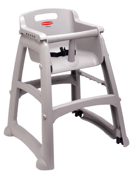Rubbermaid FG780608PLAT Sturdy Chair™ Youth Seat, without wheels, platinum, Made in USA