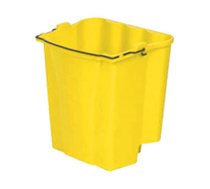 Rubbermaid FG9C7400YEL Dirty Water Bucket, 18 qt. capacity, for WaveBrake® combos, yellow, Made in USA