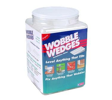 FMP 280-1176 Wobble Wedge Tapered Installation Shims, interlocking, stackable, hard nylon, translucent (jar of 300 shims)