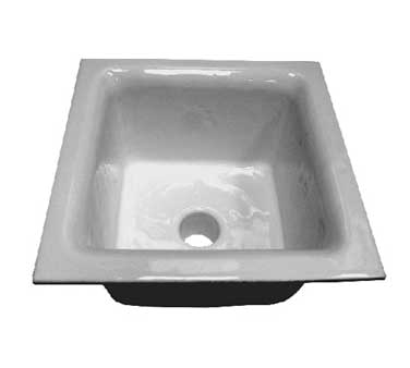 "GSW USA FS-1263 Floor Sink, 12"" x 12"" x 6"", 3"" drain with drain strainer"