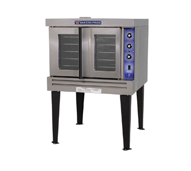 Bakers Pride GDCO-G1 Cyclone Series Natural Gas Single Deck Full Size Convection Oven with Legs - 60,000 BTU