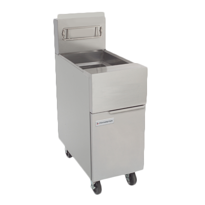 Frymaster GF40 Fryer, gas, floor model, 50 lb. capacity, open-pot design, millivolt controls, master jet burner, stainless steel frypot, 122,000 BTU, NSF, CSA