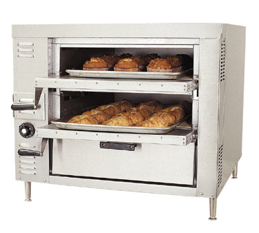 "Bakers Pride GP-51 HearthBake Series Oven, countertop, gas, pizza/bake, single compartment two 21""W x 26-1/4""D ceramic decks, 40,000 BTU"