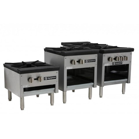 "GSW USA AESP1-3R18LP 18""W X 21""D X 18""H 3 Ring Burner, Stock Pot Stove, Single Burner, LP, ETL"