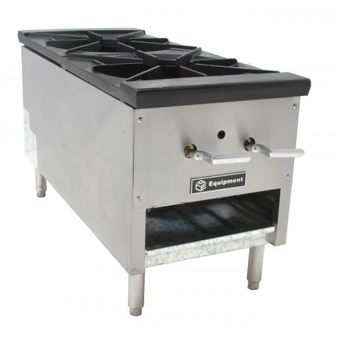 "GSW USA AESP2-23J24 23 Tips Jet Burner Stock Pot, 2 Burners, 24"" Tall 250,000BTU, ETL"