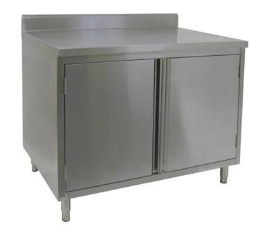 "GSW USA CTD-P2448H 4"" Rear Upturn Cabinets - Hinged Doors, 48""W X 24""D X 35""H, ETL"