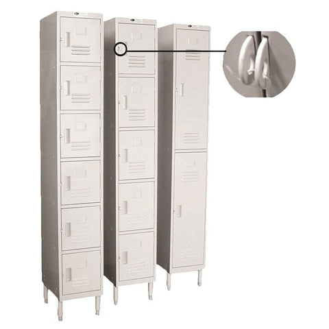 "GSW USA EL-2DR Employee Locker, 2-tier, 12""W x 20""D x 77""H"