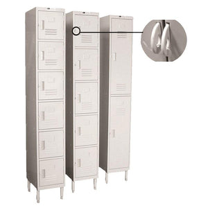 "GSW USA EL-6DR Employee Locker, 6-Tier, 12""W X 20""D X 77""H"