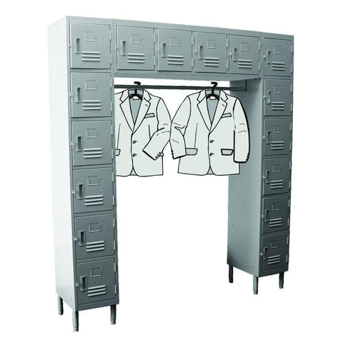 GSW USA ELS-16DR Employee Locker, (16) Compartments, (2) 6-Tier Columns With (4) Top Lockers