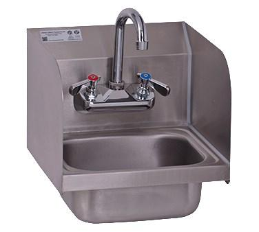 GSW USA HS-0810S Ultra Space Saver Wall Mount Hand Sink /W Welded Splash Guards, ETL