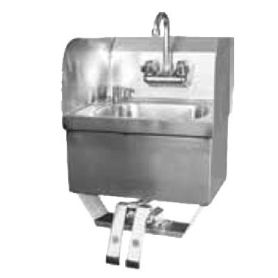GSW USA HS-1615KS Hand Sink with Knee Operated Valve & Splash Guard