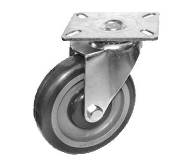 "GSW USA KP5012 Swivel Plate Casters - Non Brake, 4"" Dia. 3-1/8"" X 4-1/8"""