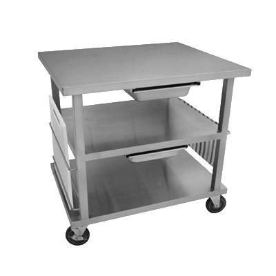 "GSW USA WT-MF3630 Multi-Functional Work Top Cart, 30-1/2""W X 36""L X 35-1/2""H, ETL"
