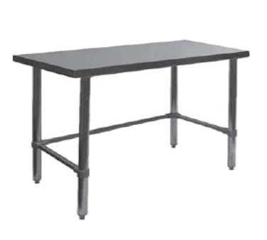 "GSW USA WT-P2424B Work Table, All Stainless Steel, Flat Top Open Base, 24""W X 24""D X 35""H, ETL"