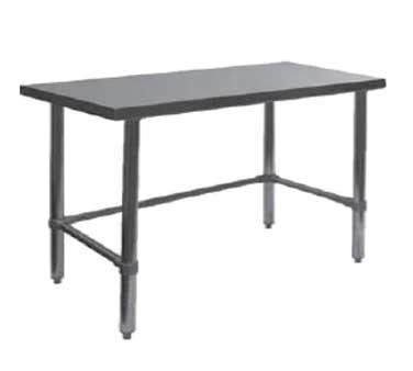 "GSW USA WT-P2436B Work Table All Stainless Steel, Flat Top Open Base, 36""W X 24""D X 35""H, ETL"