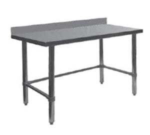 "GSW USA WT-PB3060B Work Table All Stainless Steel with 4"" Rear Upturn Open Base, 60""W X 30""D X 35""H, ETL"