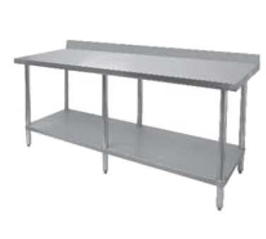 "GSW USA WT-PB3084 Premium Work Table All Stainless Steel with 4"" Rear Upturn, 84""W X 30""D X 35""H, ETL"