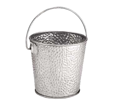 "TableCraft Products GT44 Galvanized Collection™ Pail, 16-1/2 oz., 4"" dia., round, with handle, galvanized steel"