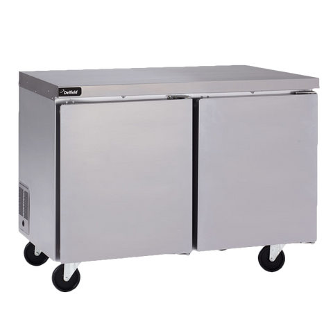 "Delfield GUF48P-S Coolscapes™ Undercounter/Worktable Freezer, two-section, 48"" W, 12.5 cubic feet, 115v/60/1, 6.4 amps, 8' cord, NEMA 5-15P, 1/3 HP, UL, cUL, NSF, ENERGY STAR®"