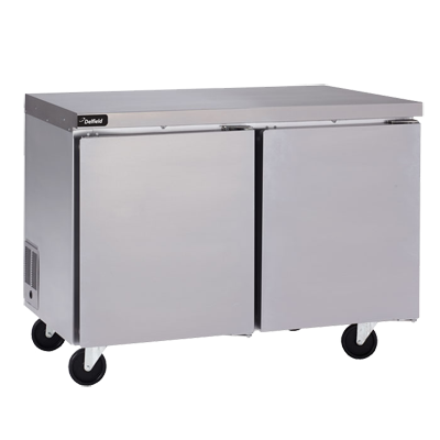 "Delfield GUF60P-S Coolscapes™ Undercounter/Worktable Freezer, two-section, 60"" W, 16.2 cubic feet, 115v/60/1, 6.4 amps, 8' cord, NEMA 5-15P, 1/3 HP, UL, cUL, NSF, ENERGY STAR®"