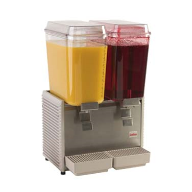 Grindmaster-Cecilware D25-4 Crathco® Classic Bubbler™ Pre-Mix Cold Beverage Dispenser, double, electric, (2) 5 gallon, R134a, 1/5 HP, cULus, NSF