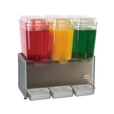 Grindmaster-Cecilware D35-4 Crathco® Classic Bubbler™ Pre-Mix Cold Beverage Dispenser, triple, electric, (3) 5 gallon, R134a, 1/3 HP, cULus, NSF