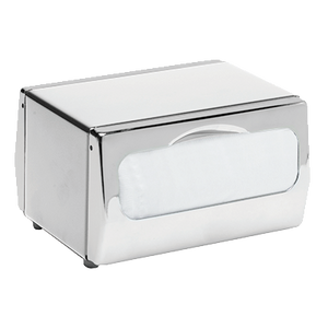 "San Jamar H4000XC Tabletop Napkin Dispenser, two-sided, mini-fold, 7-3/4""W x 6""D x 4-1/2""H, chrome finish"