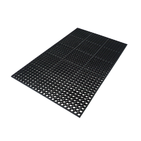 "Axia AFD366034B Premium Anti-fatigue Floor Mat, 36"" x 60"", 3/4"" thick, general purpose, rubber, black, NFSI certified"