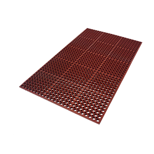"Axia AFD366034T Premium Anti-fatigue Floor Mat, 36"" x 60"", 3/4"" thick, grease resistant, rubber, red, NFSI certified"