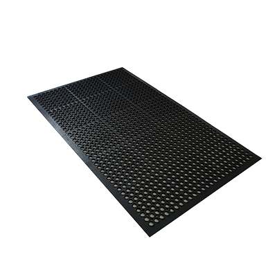 "Axia AFD3660BN Economy Anti-Fatigue Floor Mat, 36"" x 60"", 3/8"" thick, light weight, general purpose, rubber, black, NFSI certified"