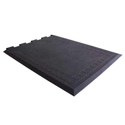 "Axia CRT2736EB Anti-fatigue Floor Mat, 27"" x 36"", solid top, slip resistant, rubber, black, NFSI certified"