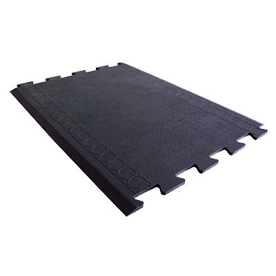 "Axia CRT2736MB Anti-fatigue Floor Mat, 27"" x 36"", solid top, interlocking, middle connectable section, rubber, black, NFSI certified"