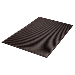"Axia EMR3660C Entrance Mat, 36"" x 60"", 3/8"" thick, ribbed pattern, charcoal, NFSI ceertified"