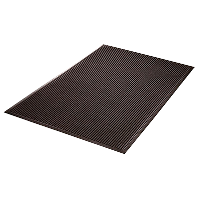 "Axia EMR3660C Entrance Mat - 36"" x 60"" (3/8"" Thick), Ribbed Pattern, Charcoal, NFSI Certified"