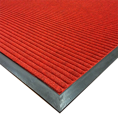 "Axia EMR3660R Entrance Mat - 36"" x 60"" (3/8"" Thick), Ribbed Pattern, Red, NFSI Certified"