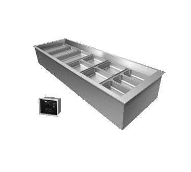 Hatco CWBX-2 Remote Refrigerated Drop-In Wells with (2) Pan Capacity, Aluminum/ Stainless Steel