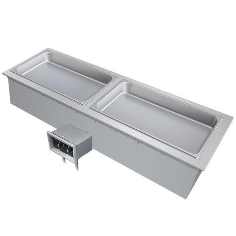 Hatco DHWBI-S2 Two-Compartment Drop-In Modular Dry Slim Heated Well - 120V