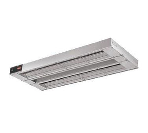 "Hatco GRAH-48D6 Glo-Ray 48"" Aluminum Dual High Wattage Infrared Warmer with 6"" Spacer and Toggle Controls - 2200 Watts"