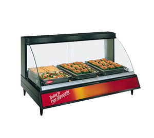 Hatco GRCD3P Glo-Ray® Countertop Designer Heated Display Case with (3) Pan Single Shelf