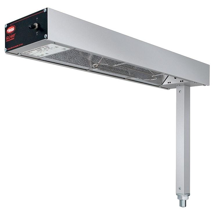 "Hatco GRFS-24 Glo-Ray 6"" Fry Station Overhead Warmer with Metal Elements and Plug - 120V, 500W"