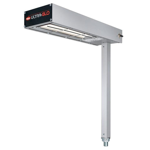 "Hatco GRFSC-18 Glo-Ray 6"" Fry Station Overhead Warmer with Ceramic Elements and Plug - 120V, 750W"