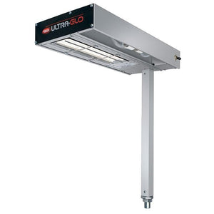 "Hatco GRFSCLR-18 Glo-Ray 9"" Fry Station Overhead Warmer with Ceramic Elements, Lights, and Plug - 120V, 870W"