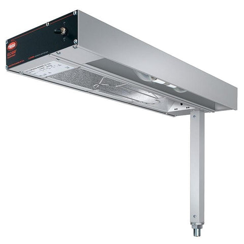 "Hatco GRFSL-24 Glo-Ray 9"" Fry Station Overhead Warmer with Metal Elements, Lights, and Plug - 120V, 620W"